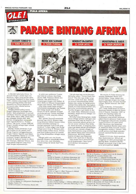 PARADE BINTANG SEPAKBOLA AFRIKA