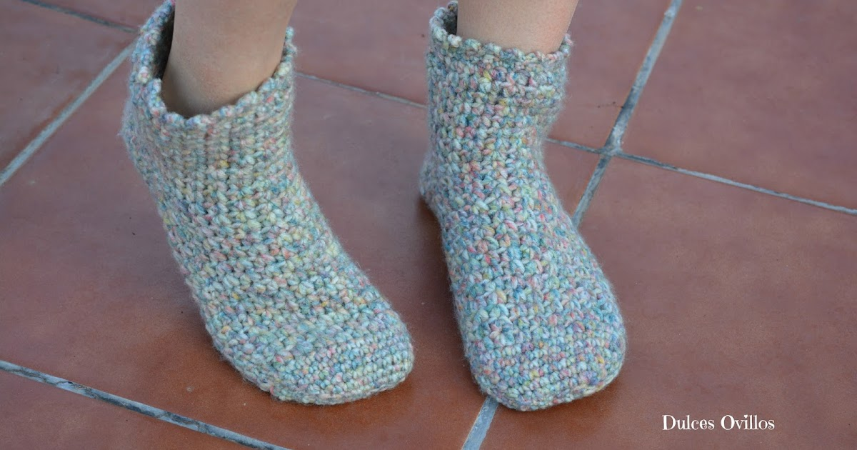 Dulces Ovillos: Calcetines a crochet con Lanas Rubí - Crochet socks