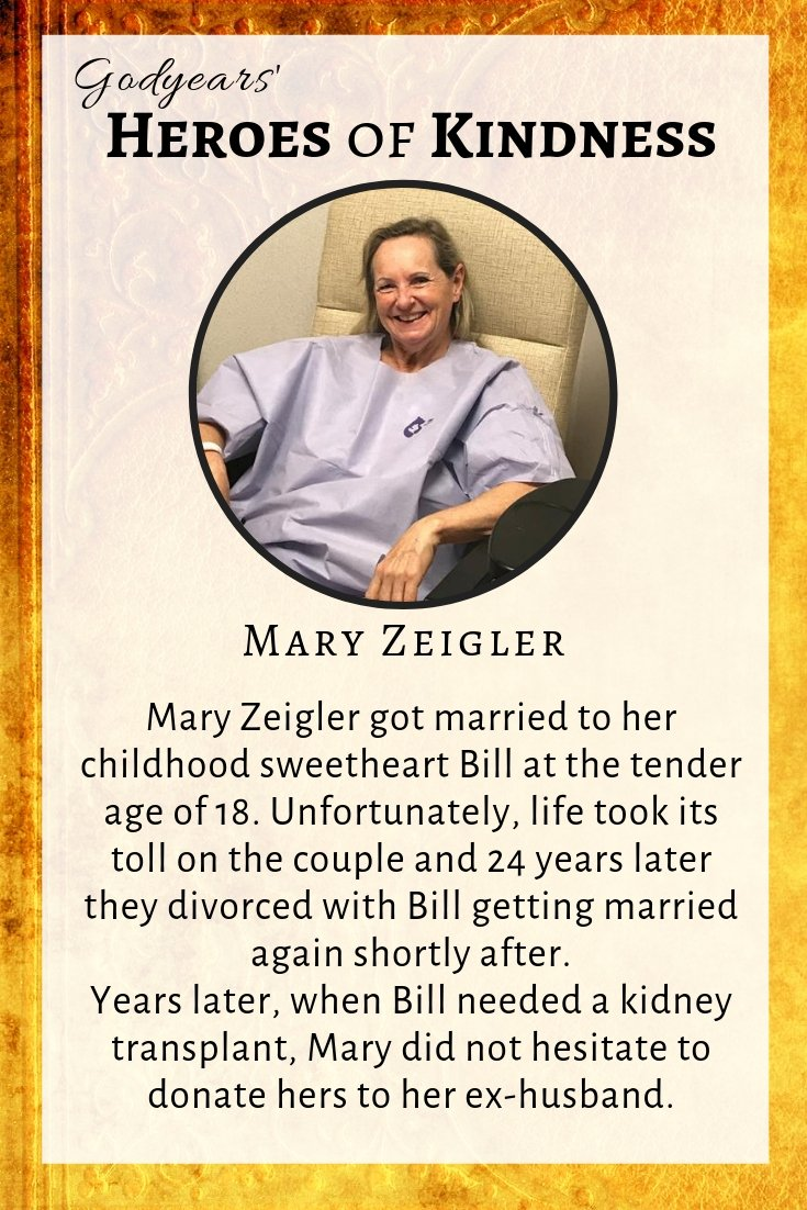 44 years after giving her heart, Mary Zeigler made an amazing gesture for her ex.