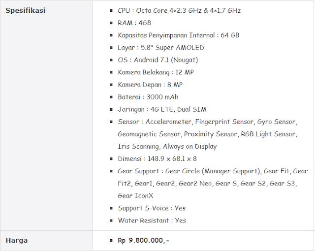 Hp Samsung Terbaru - Harga dan Spesifikasi Galaxy S8