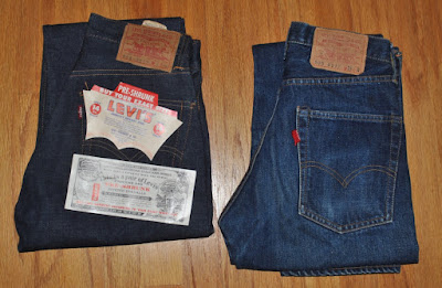 60s Vintage Levis 551zxx-505 double name and 505 type