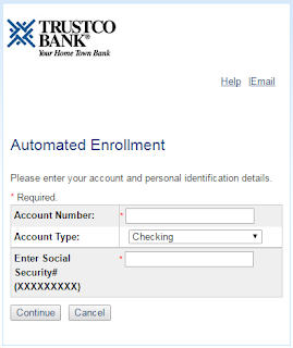 trustco bank Automated Enrollment
