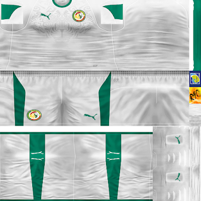 PES 6 Kits Senegal National Team World Cup 2018 by Rodry90 Kitmaker