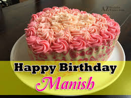 Happy Birthday Manish Cake