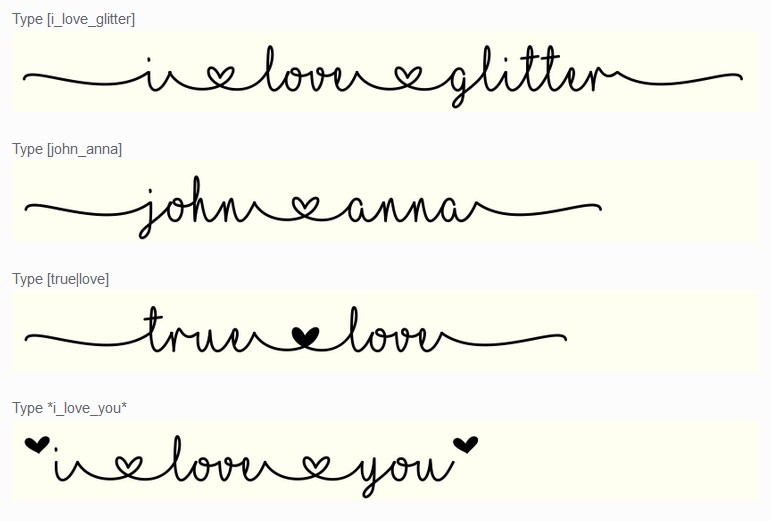 Mf I Love Glitter Aşk İçin Türkçe Ücretsiz Yazı Fontu