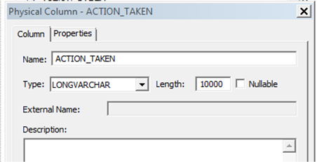 Oracle Business Intelligence : Enable CLOB Field in OBIEE