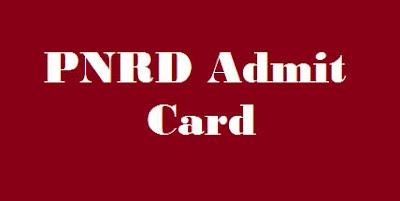 PNRD Admit Card