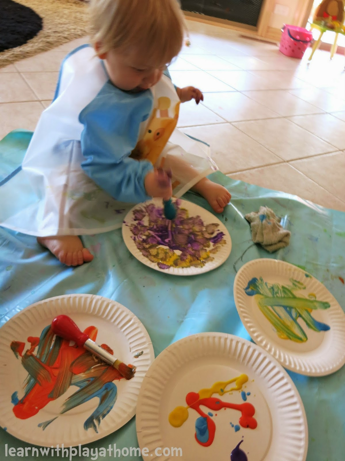 Learn With Play At Home Baby And Toddler Play Paper Plate Painting