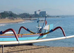 the Sanur Beach