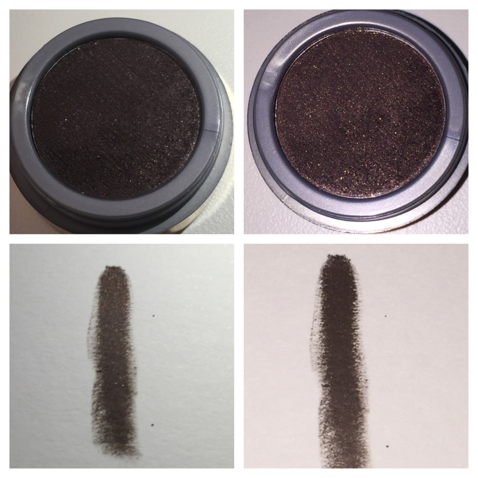 Milani Fierce Foil Eyeliner Review and swatch brown foil