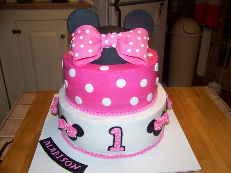 Christmas Gift Minnie Mouse Birthday Cake Designs