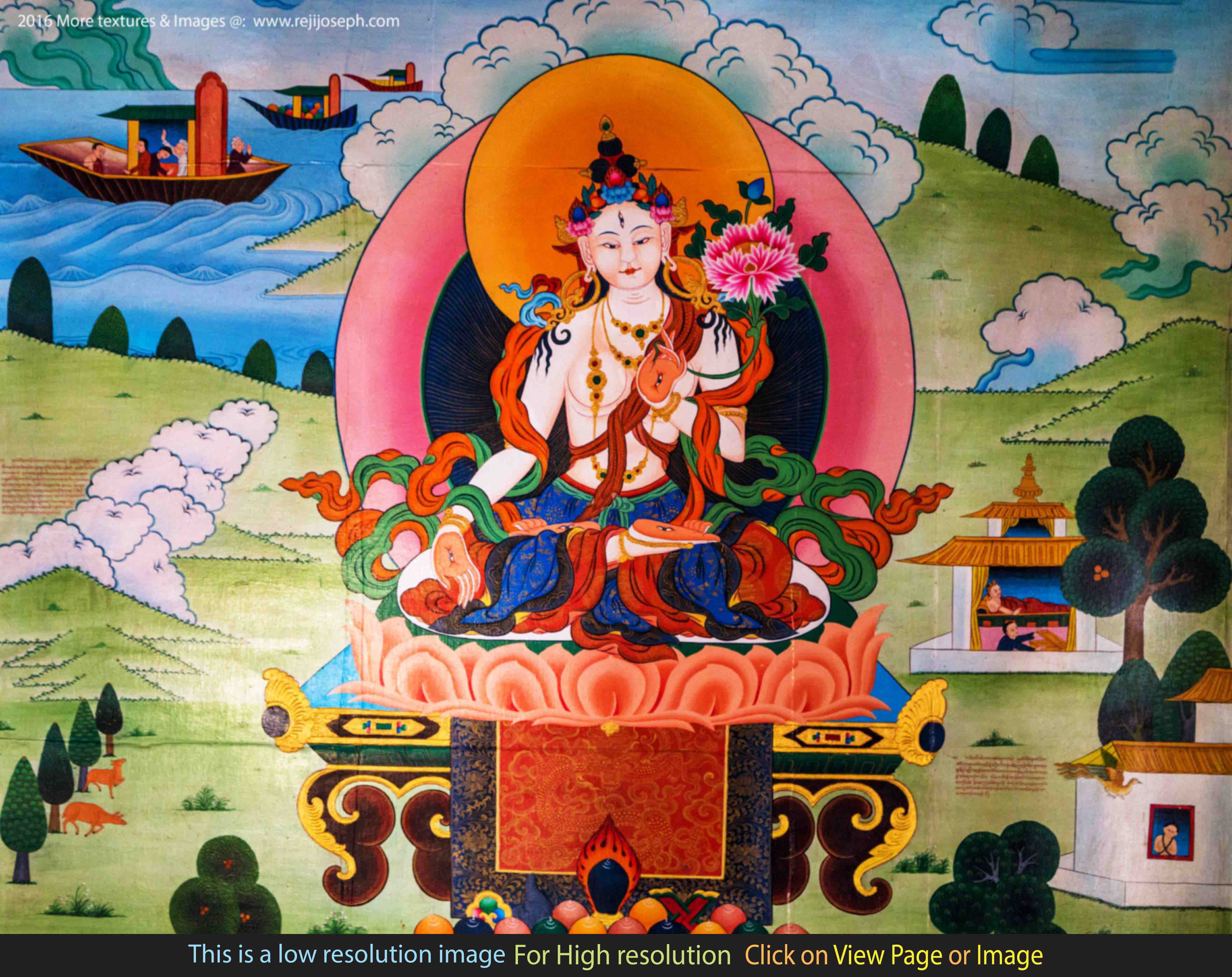 Buddhist art wall painting 005