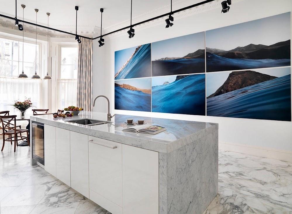 blue-seascape-six-piece-painting-marble-kitchen