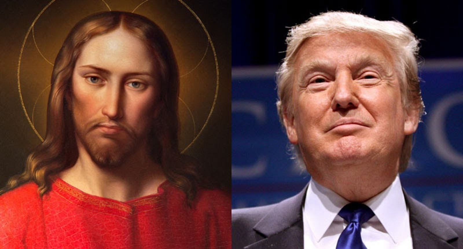 JESUS CHRIST AND DONALD TRUMP  - THE BEAST