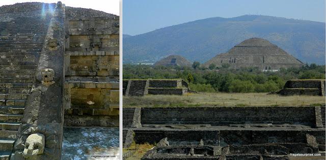 Templo de Quetzalcóatl e as pirâmides de Teotihuacan, México