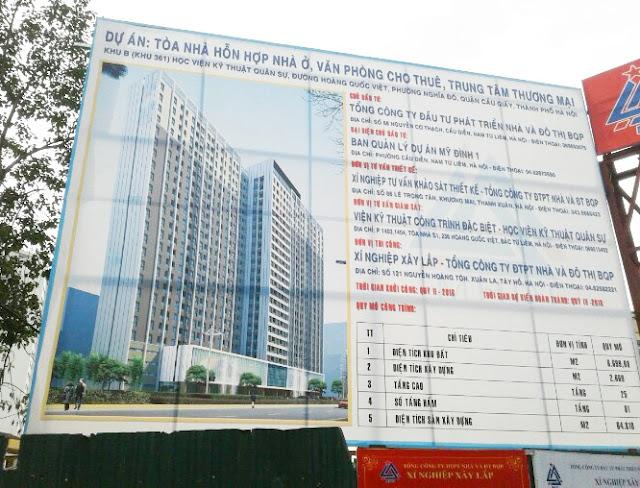 Biển dự án chung cư 60 Hoàng Quốc Việt