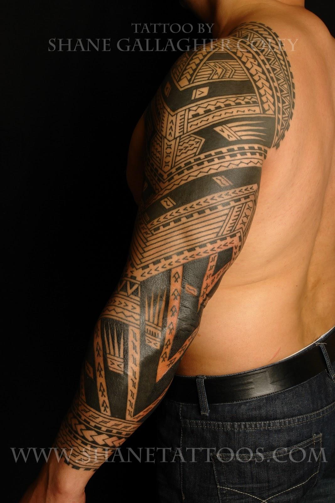 Samoan Tattoo: SHANE TATTOOS: Polynesian/Samoan Sleeve Tattoo On Sonny
