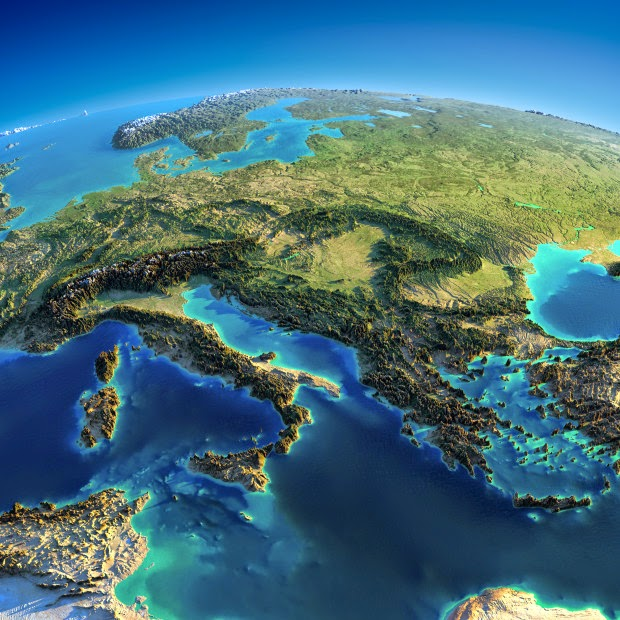 Eastern Europe - Fascinating Relief Maps Show The World's Mountain Ranges