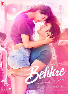 Befikre 2016 Hindi DVDscRip 300mb and HEVC 150mb