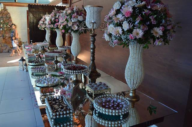 decoração rosa chá