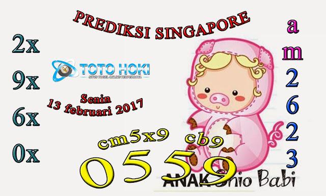 PREDIKSI SGP BOCORAN SINGAPORE HARI SENIN 13 FEBUARI 2017