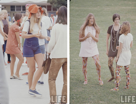 california high school fashion 1969