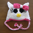 Hello Kitty Newborn Hat