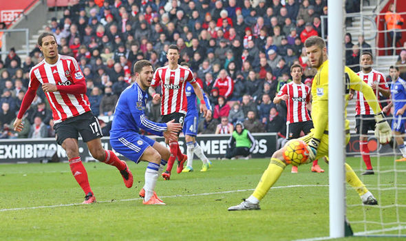 Cesc Fabregas' cross went all the way through and into the net past Fraser Forster at St Mary's