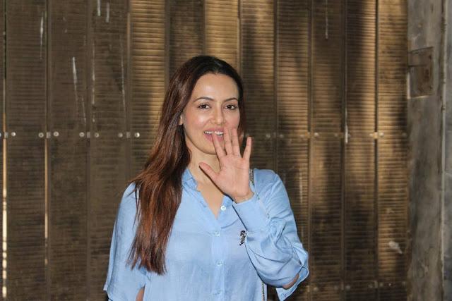 Sana Khan At Toilet Ek Prem Katha Dubbing Session Stills