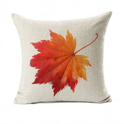 Leaf Pillow Cover featured on Walking on Sunshine.