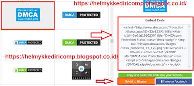 Cara Melindungi Kontent Blog dengan DMCA