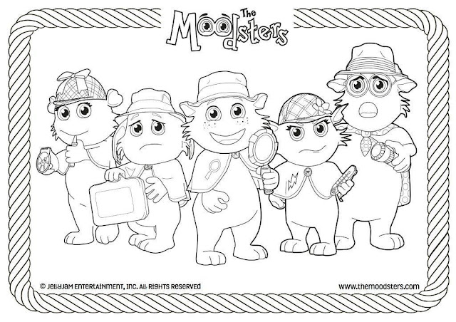 The Moodsters Coloring Printable