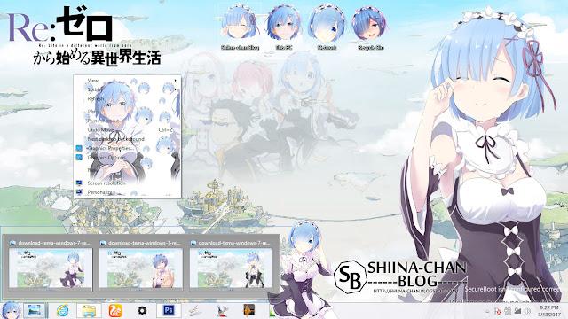 Download Tema Windows 8/8.1 REM - Re:Zero Hajimeru no Sekai