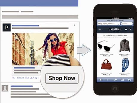 圖片說明: 歐洲臉書推出 Shop Now 電商工具,圖片來源: ECNeu