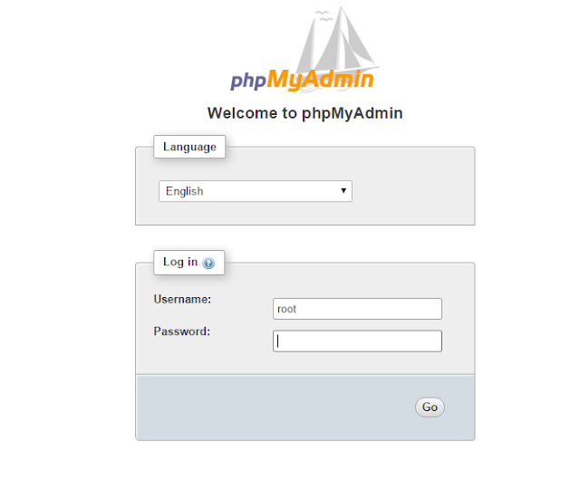 Menampilkan Halaman Login phpMyAdmin