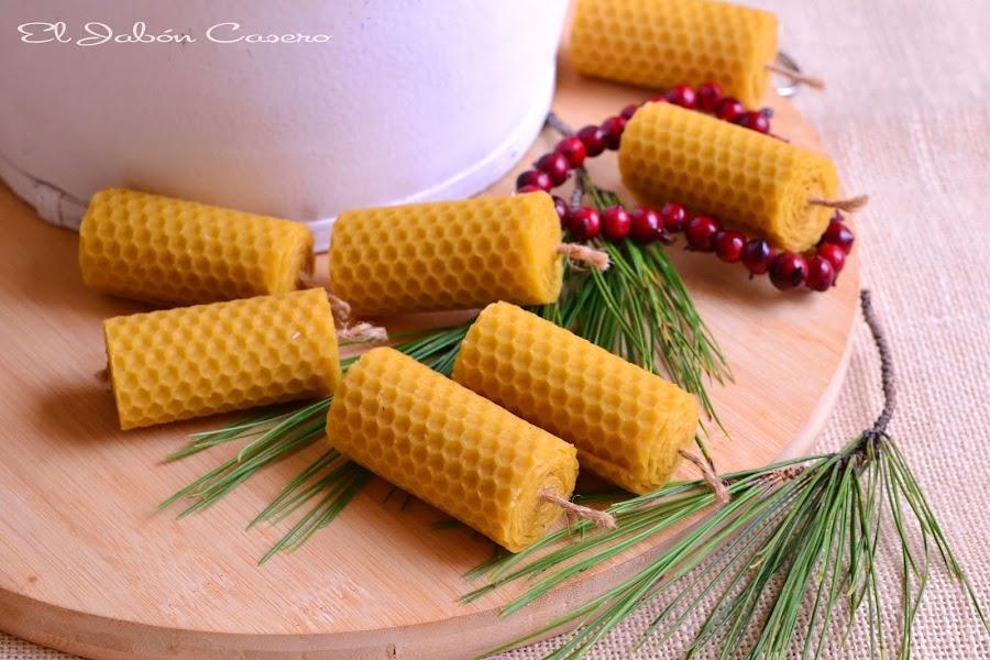 Regalos para navidad velas de miel