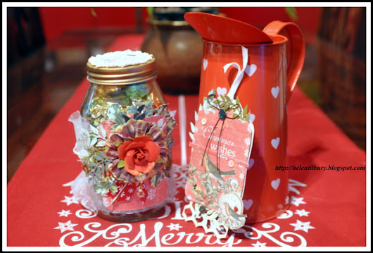 Christmas Sweetie Jar & Tag Using Magic Time Collection by Studio 75