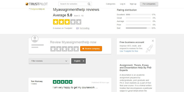 Myassignmenthelp.com Reviews on Trustpilot.