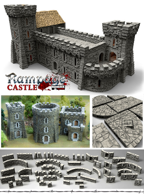 Printable Scenery - 3D Printable Wargame Miniature Fantasy Warhammer Castle