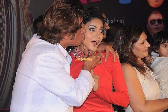 Shakti kapoor and Veena Malik Kissing in Public