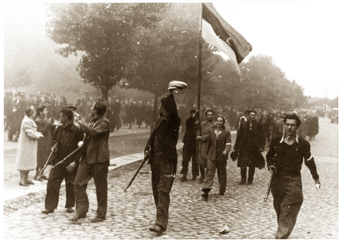 """Freedom fighters"" in Tallinn, Estonia, 28 August 1941 worldwartwo.filminspector.com"
