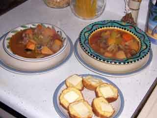 Beef stew ready to serve