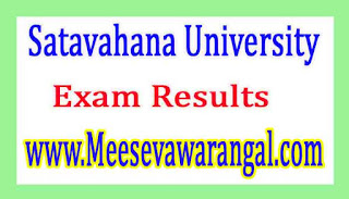 Satavahana University B.Ed 2nd Sem 2015-16 Exam Results