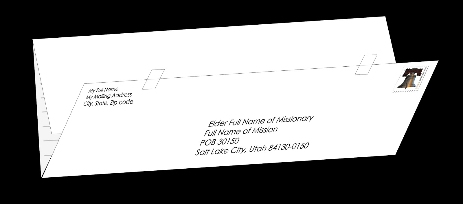 ... the image of the LDS Missionary Pouch Mail Example for a larger size
