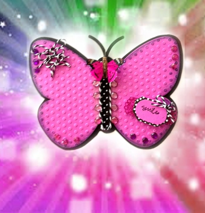 Craft Creations: Beautiful Butterfly Shaped Card