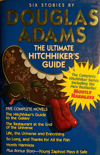 Book Cover - Hitchhikers Guide to the Galaxy by Douglas Adams