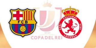 مشاهدة مباراة برشلونة وكولتورال ديبورتيفا ليونيسا بث مباشر بتاريخ 31-10-2018 كأس ملك إسبانيا
