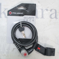 Polygon 6001 Lock Spiral Key, Resettable COmbination & Light
