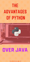 the advantages of python over java