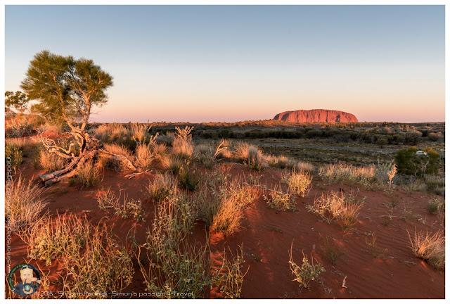 tramonto su Uluru
